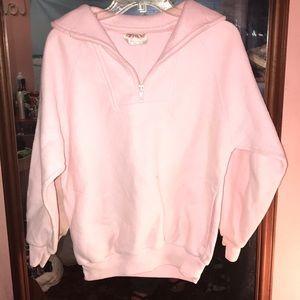 Fuzzy half zip sweater 💖